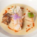Roasted Norway lobster, vichissoise and vanilla ravioli