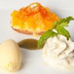 Dessert dedicated to the orange
